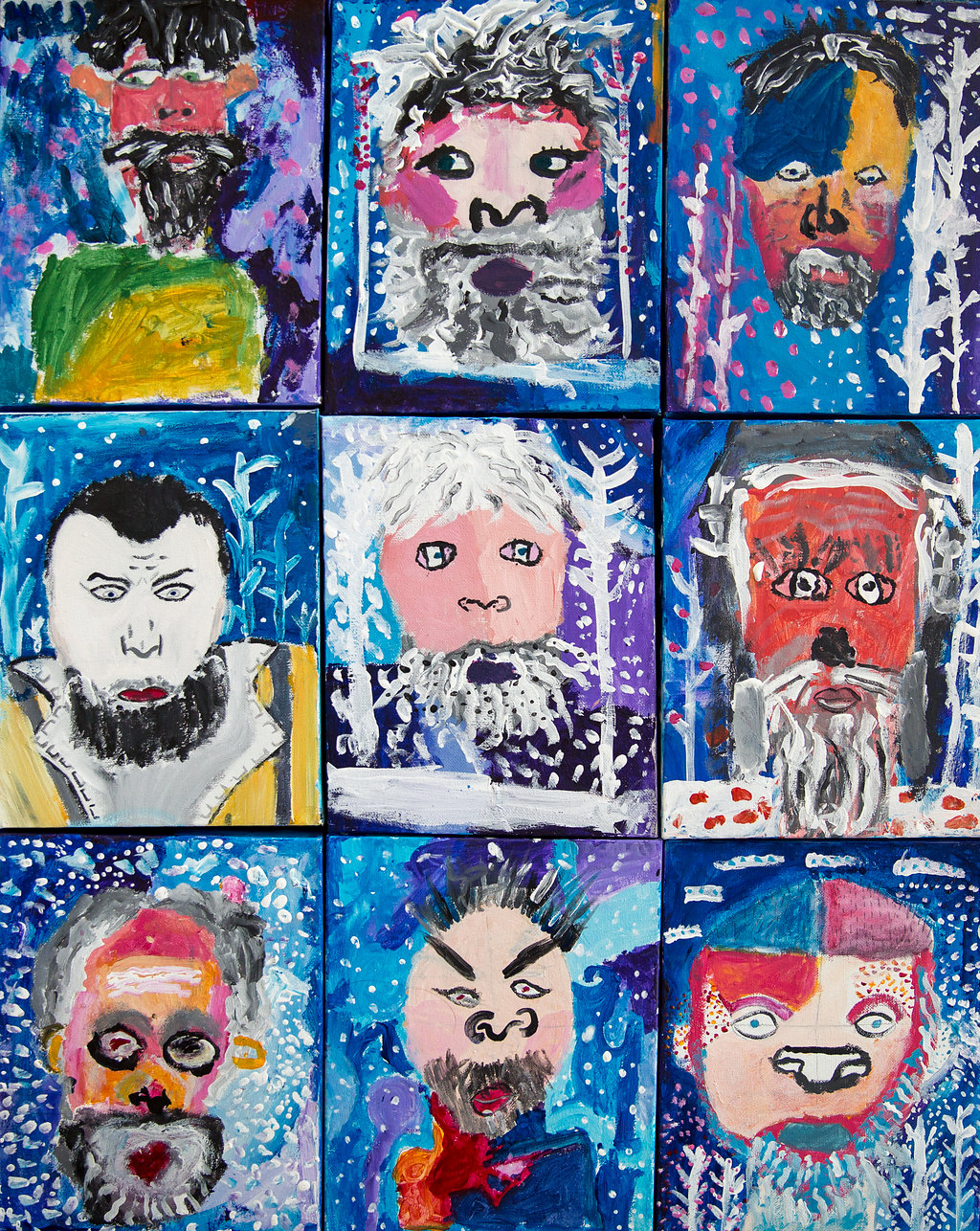 Portraits of the Selfish Giant by Y5 St Cuthbert with St Matthias CE Primary School Kensington and Chelsea