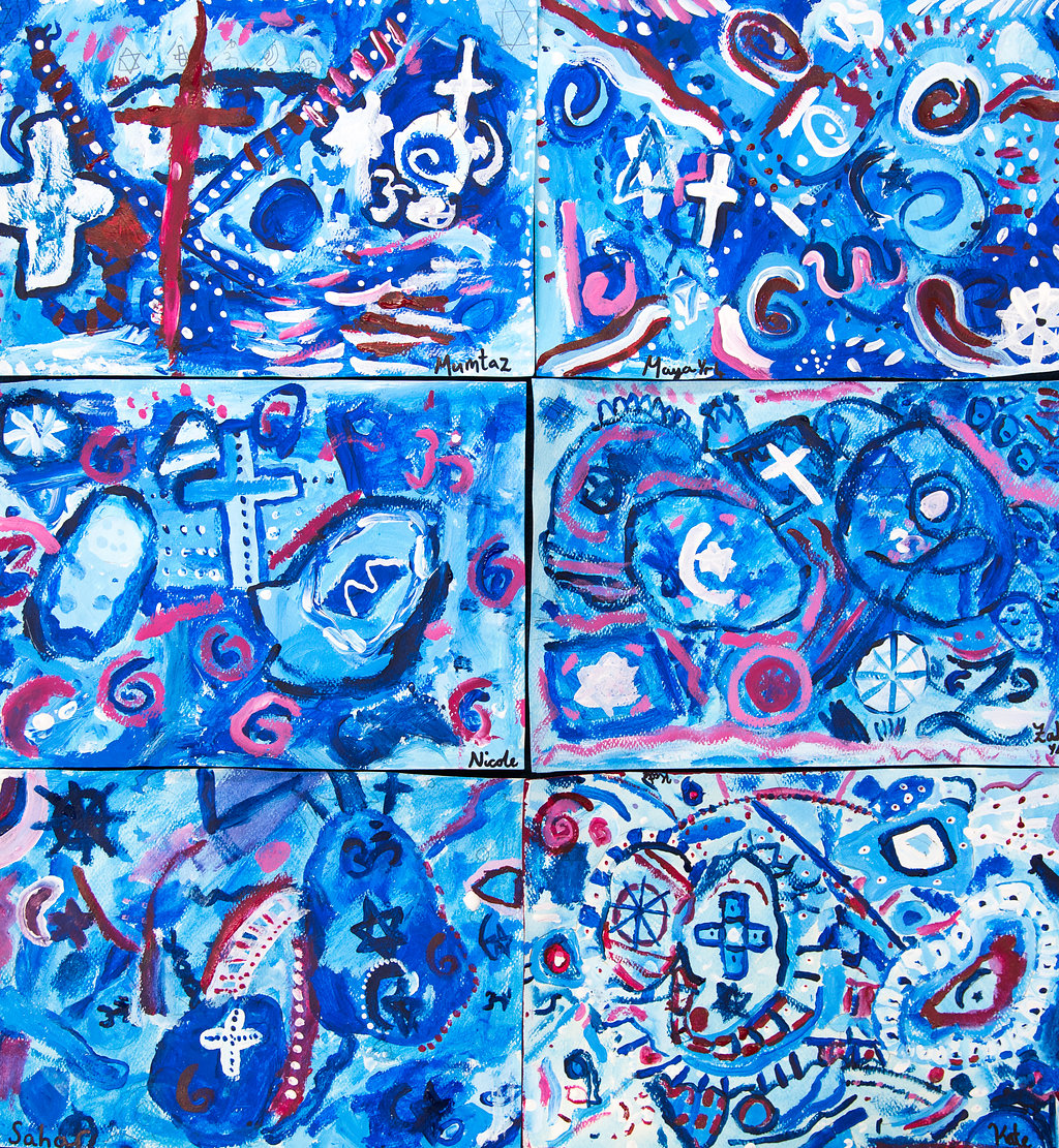 Red white and Blue Kandinsky