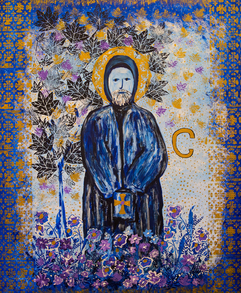 Group Canvas of St Cuthbert by Year 5 - St Cuthbert with St Matthias CE Primary School RBKC