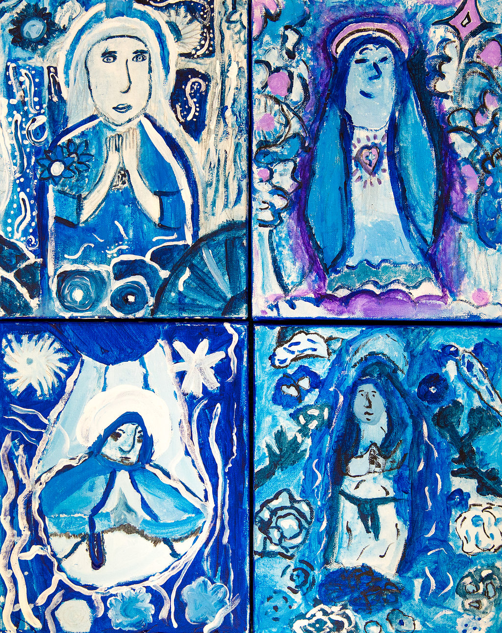 Saint Mary in the style of the artist Marc Chagall by Year 6 - St Mary's CE Primary School Herts