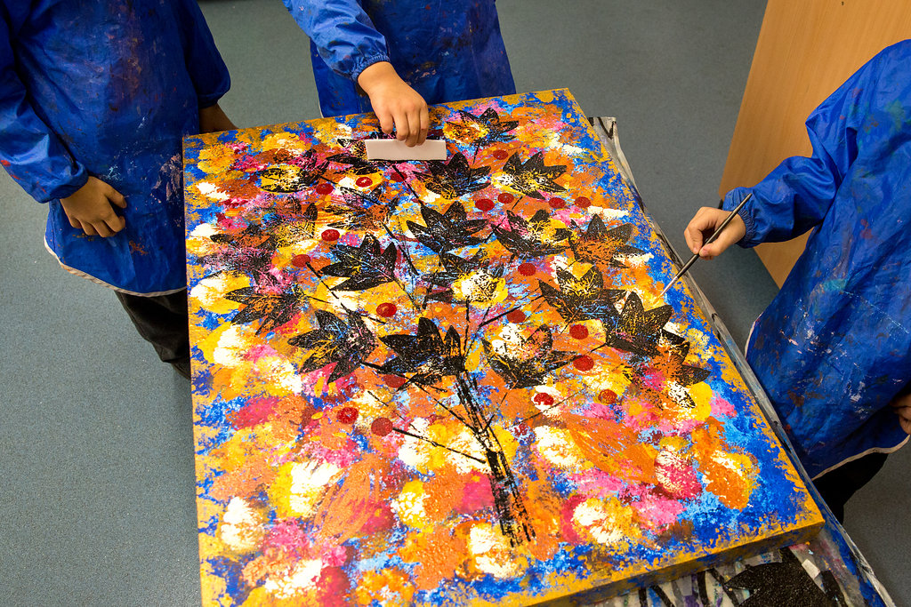 Group Canvas - The Seasons by Year 1 at Dormers Wells Infant School Ealing