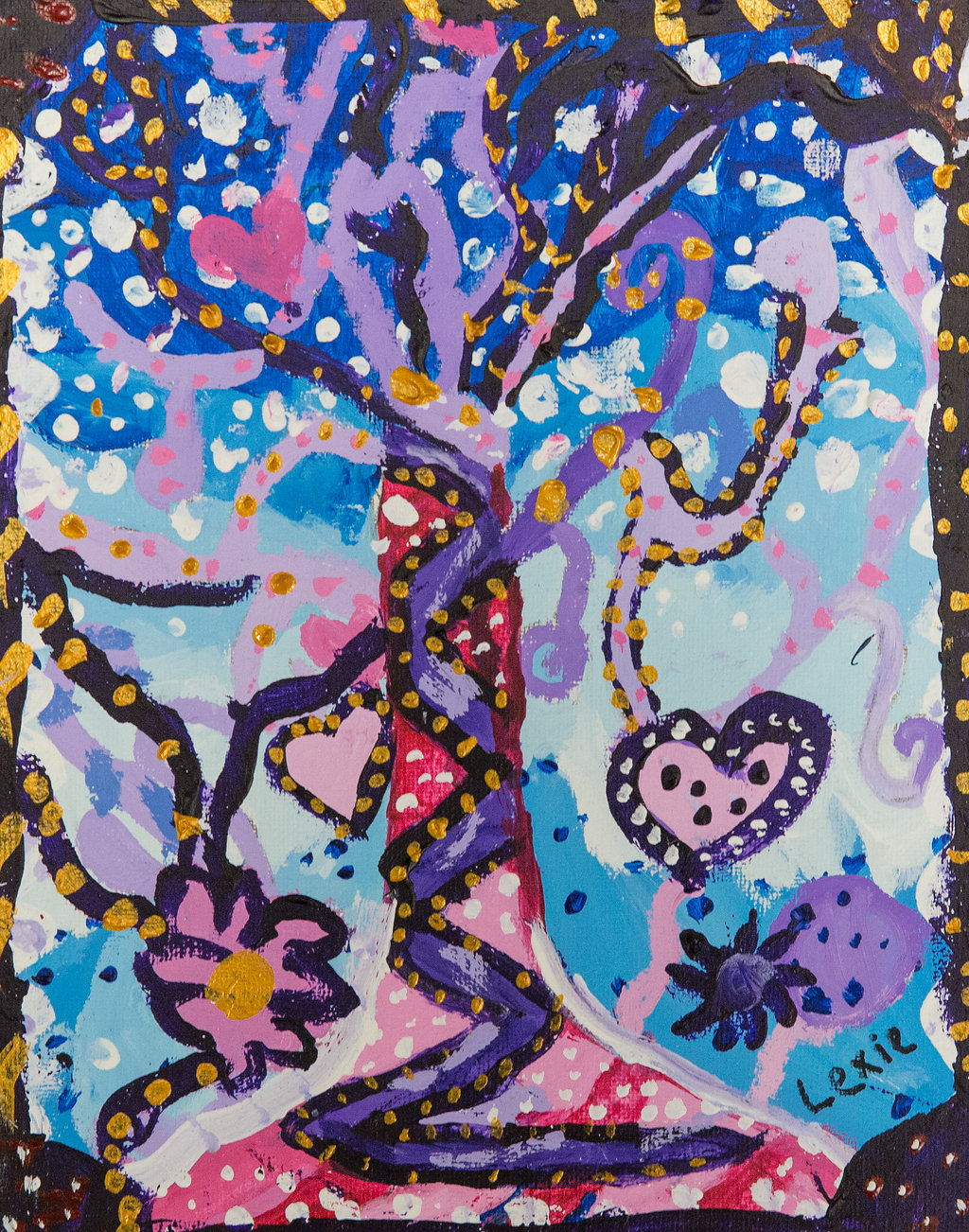 Tree of Life Painting - Year 6 Malorees Junior School Brent