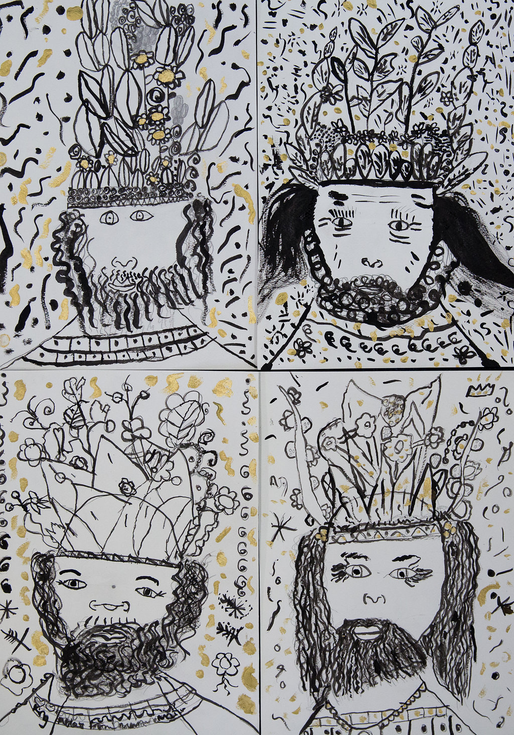 King Midas Brush and Ink by Y2 - Yeading Infants and Nursery School Hillingdon