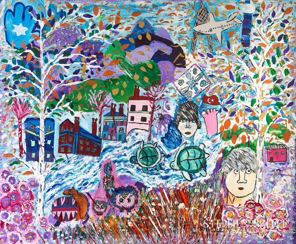 Group canvas - Tales from the Community - Holy Trinity Primary School Sloane Square - Art Project - - Chalice Arts UK Ltd - Stephen Bruce